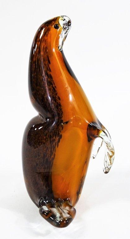 MURANO ITALY BLOWN ART GLASS FIGURE OF WALRUS