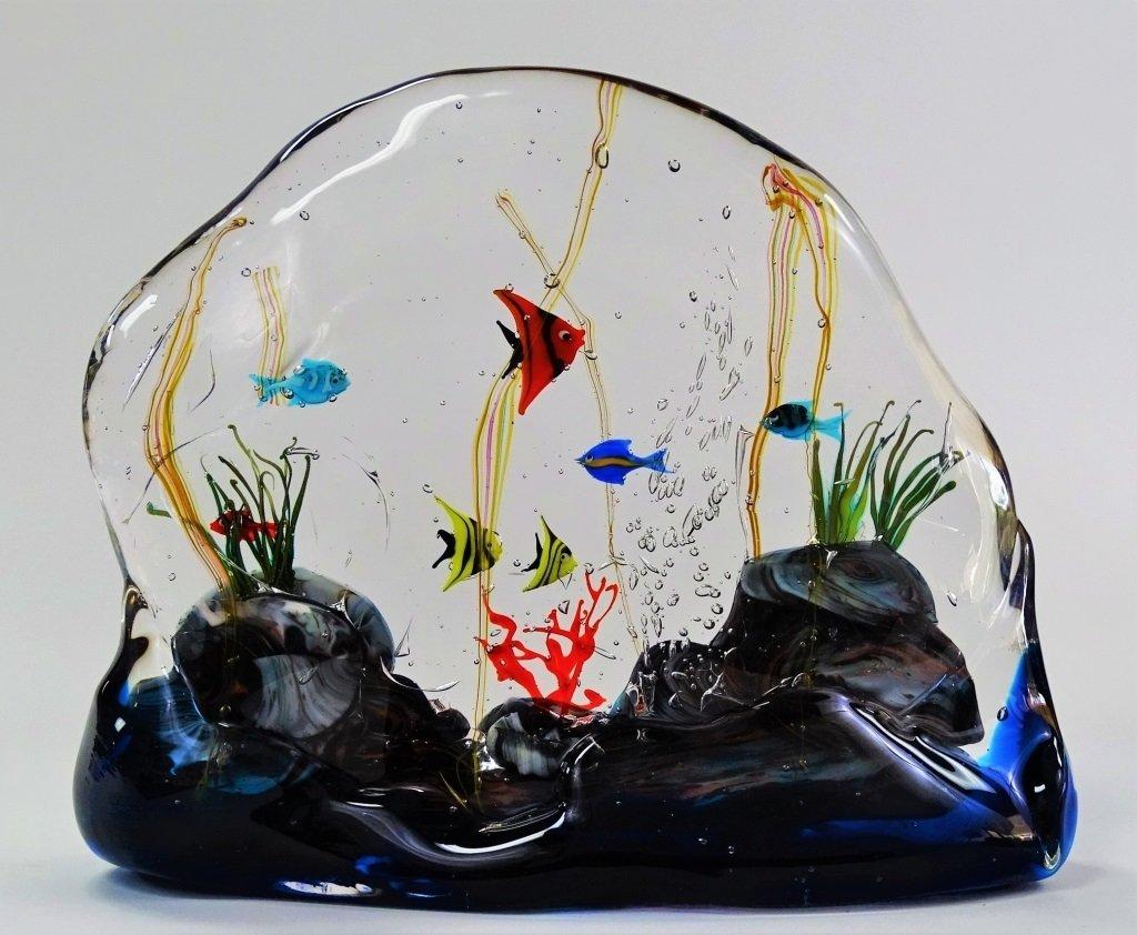 MURANO ART GLASS FISH AQUARIUM SCULPTURE