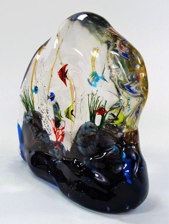 MURANO ART GLASS FISH AQUARIUM SCULPTURE - 3