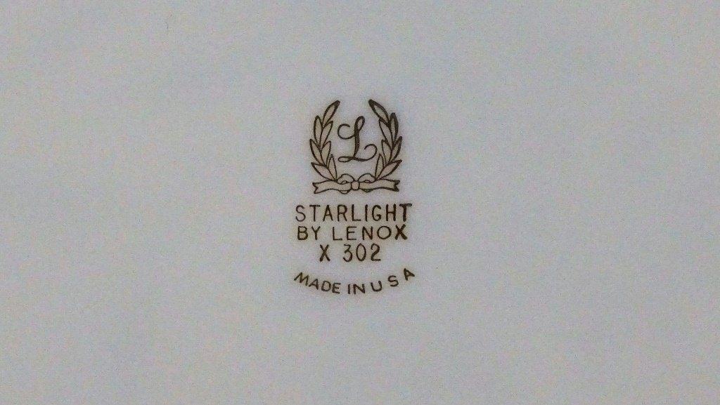 """68 PIECE LENOX CHINA """"STARLIGHT"""" PATTERN - 5"""