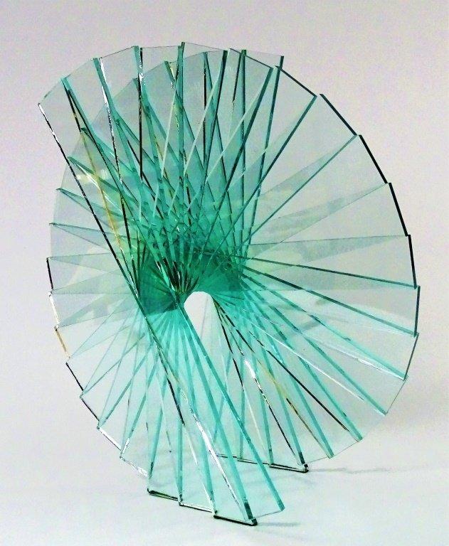 """RUNSTADLER GLASS SCULPTURE """"SPIRAL MOTION"""""""