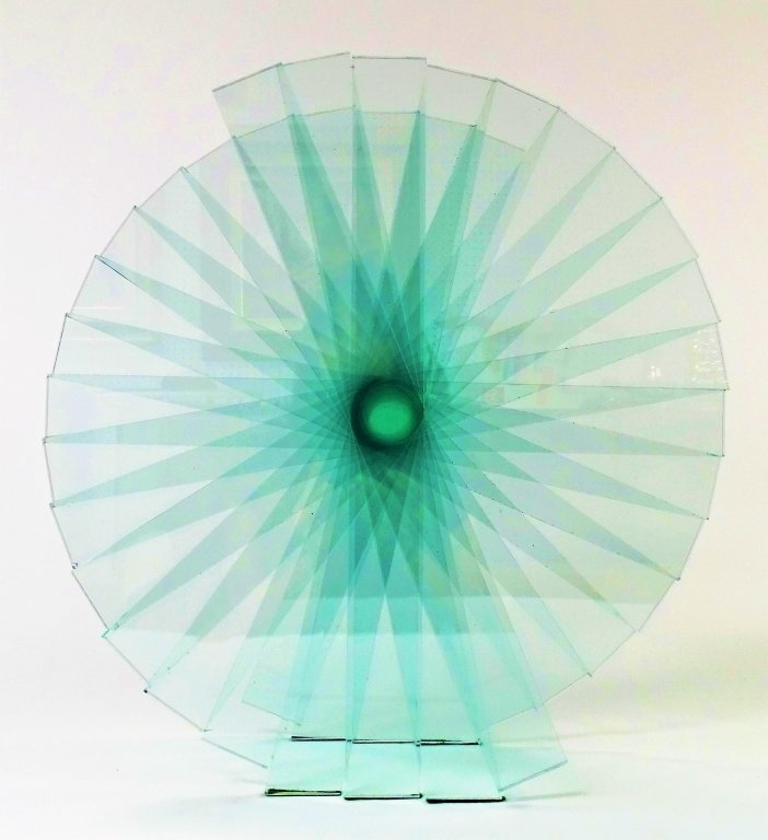 "RUNSTADLER GLASS SCULPTURE ""SPIRAL MOTION"" - 2"