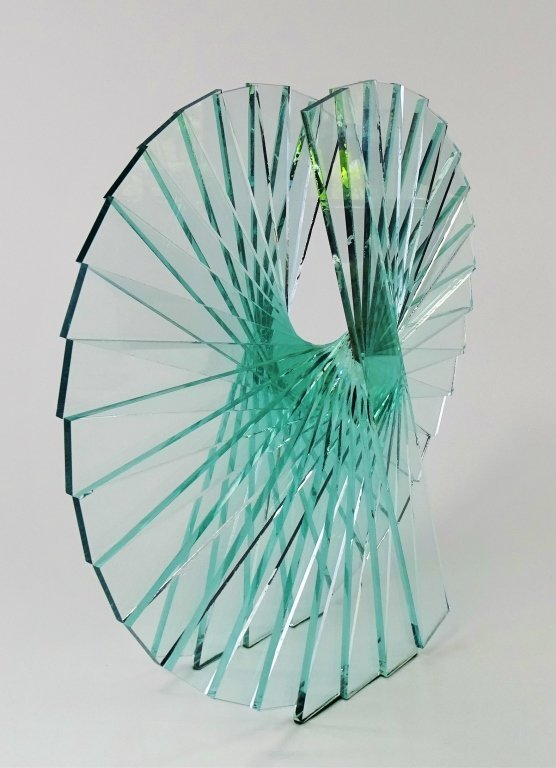 "RUNSTADLER GLASS SCULPTURE ""SPIRAL MOTION"" - 3"