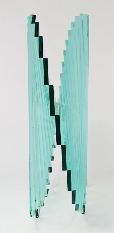 "RUNSTADLER GLASS SCULPTURE ""SPIRAL MOTION"" - 4"
