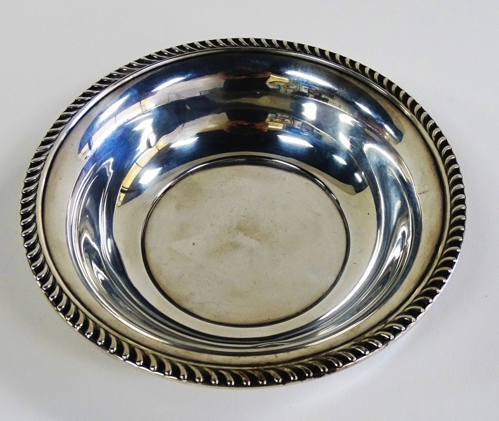 STERLING SILVER CANDY BOWL - 2