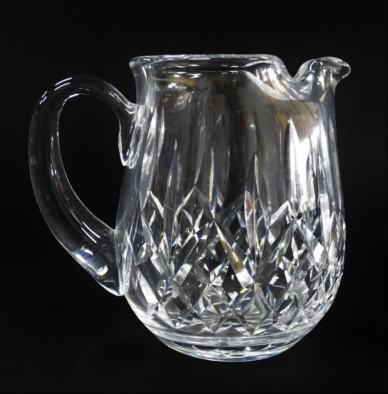 WATERFORD PINCHED SPOUT CUT CRYSTAL PITCHER
