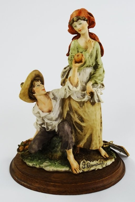GUISEPPE ARMANI FIGURINE MAN GIVING APPLE TO GIRL