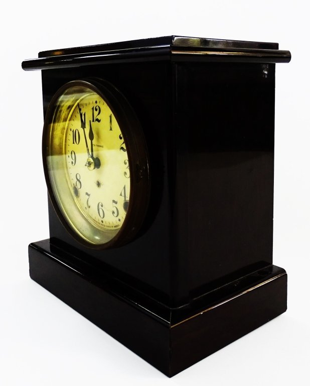 EARLY 20TH C. SETH THOMAS WOOD CASE SHELF CLOCK - 3