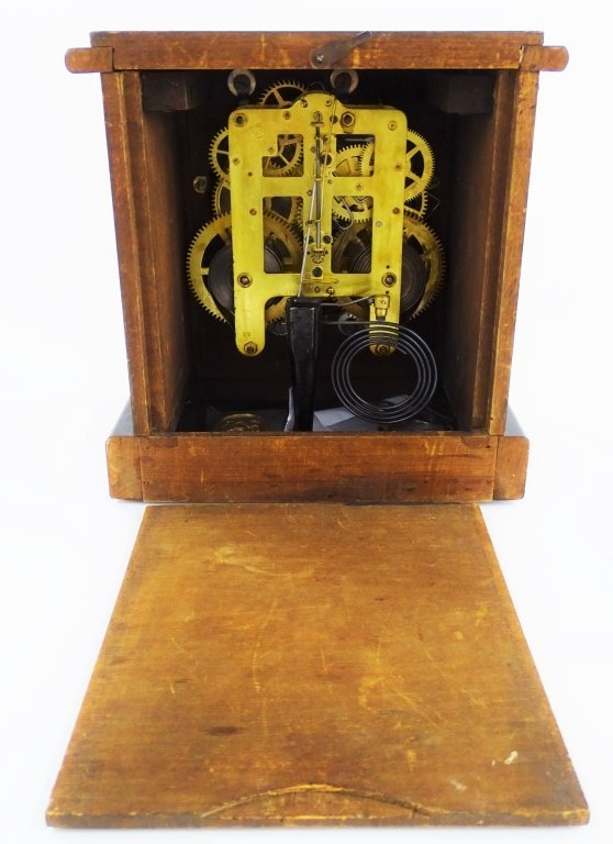 EARLY 20TH C. SETH THOMAS WOOD CASE SHELF CLOCK - 5