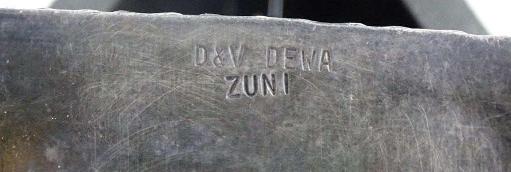 VTG D&V DEWA ZUNI INLAID STERLING BELT BUCKLE - 5