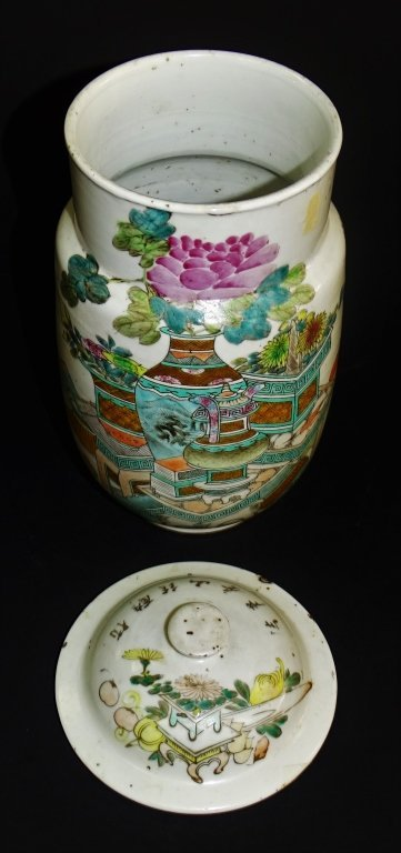 18TH/19TH C. CHINESE PORCELAIN COVERED URN - 4