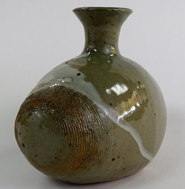 CONTEMPORARY AMERICAN STUDIO POTTERY VASE - 4