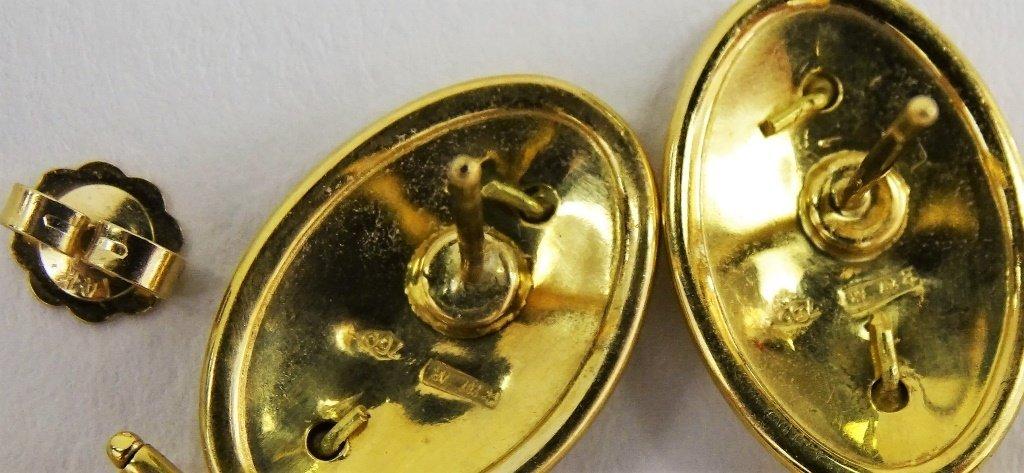 PR LADIES 18KT GOLD CAMEO & CITRINE DROP EARRINGS - 5