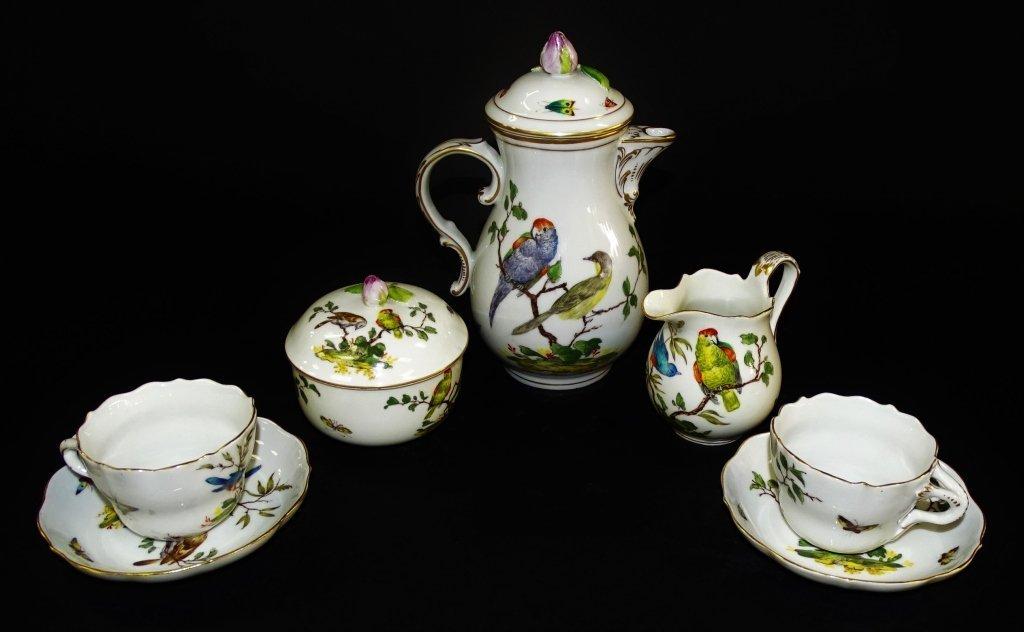 19TH CENTURY ROYAL CROWN DERBY 7 PIECE TEA SET
