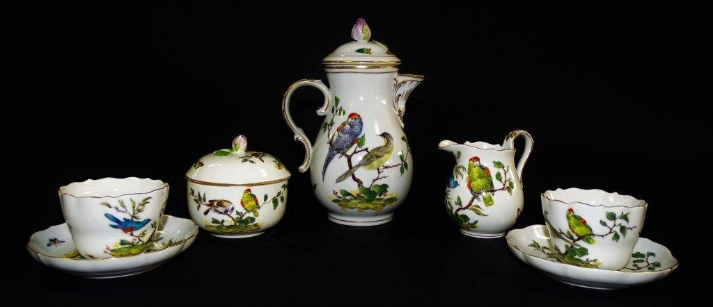 19TH CENTURY ROYAL CROWN DERBY 7 PIECE TEA SET - 2