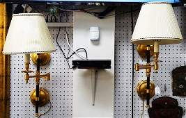 PR MID CENTURY FRENCH BRONZE WALL SCONCES