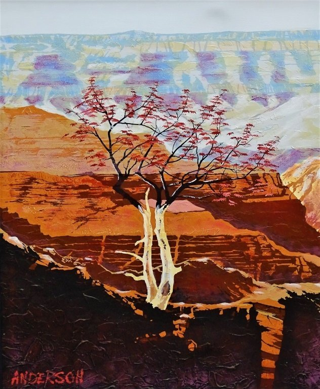 LARGE OIL ON CANVAS BY ANDERSON GRAND CANYON