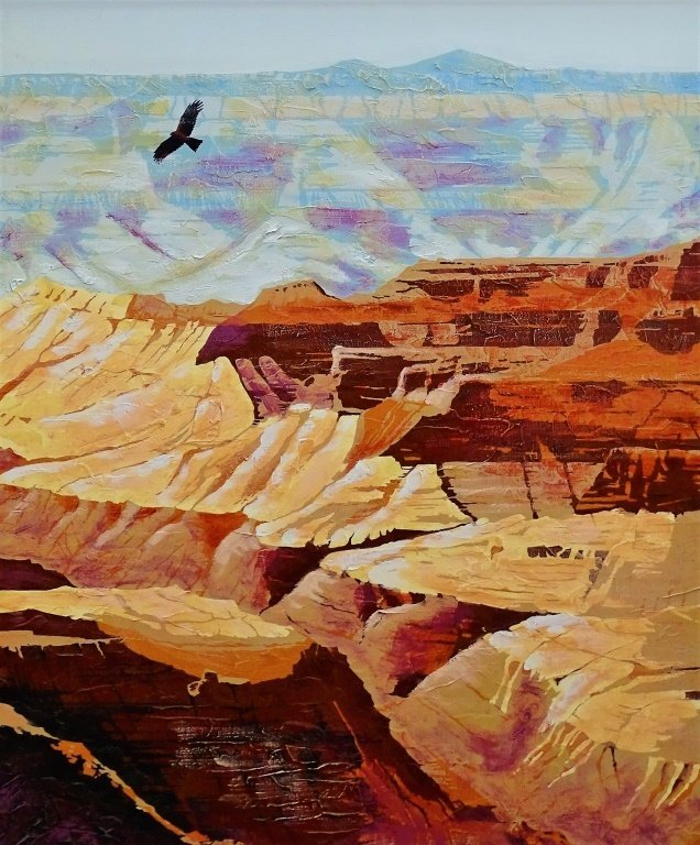 LARGE OIL ON CANVAS BY ANDERSON OF GRAND CANYON