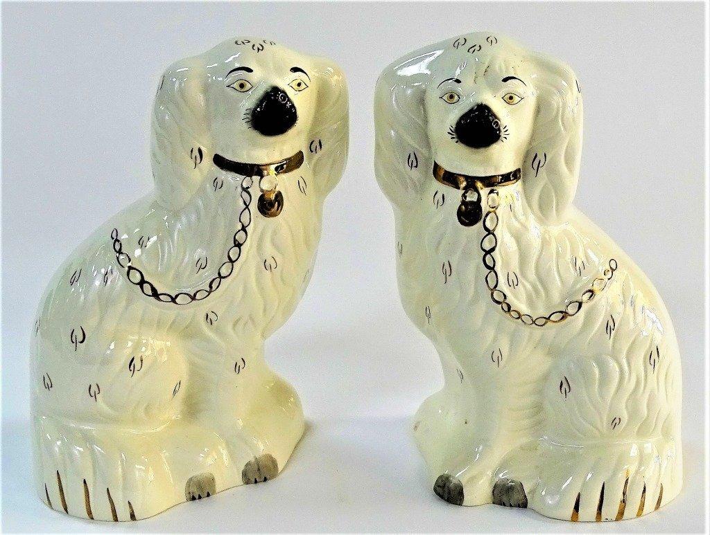 PR OF VINTAGE BESWICK STAFFORDSHIRE DOGS