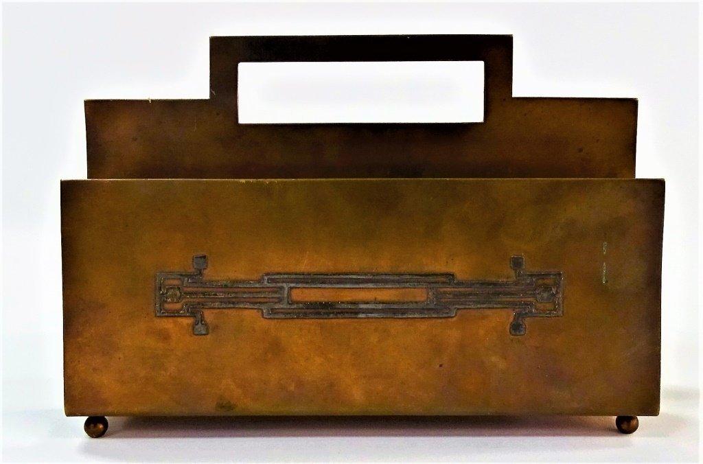 STERLING IRIS Bronze SIGNED Arts Crafts HEINTZ ART