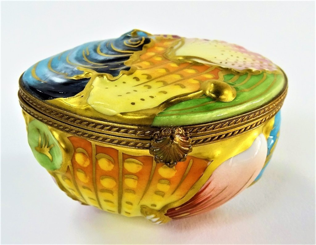 RARE LIMOGES PILL BOX BY CHAMART