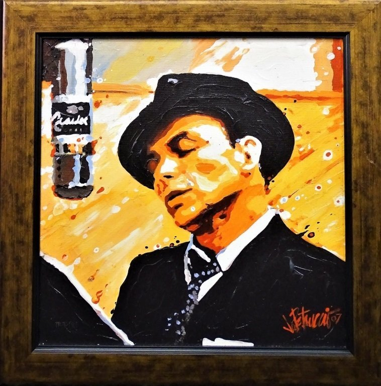 FRANK SINATRA FINE ART GICLEE ON CANVAS SIGNED