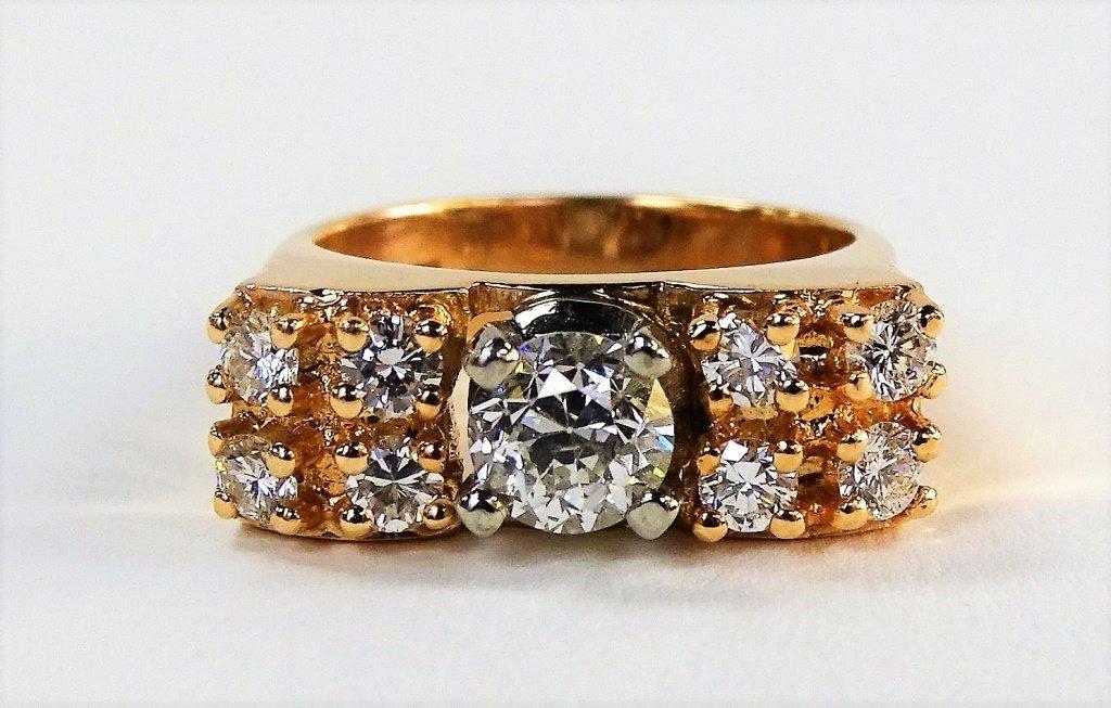 STUNNING LADIES 14KT RG & 1.00CT DIAMOND RING