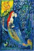 LARGE MARC CHAGALL LITHOGRAPH TITLED WEDDING