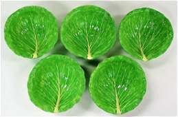 DODIE THAYER SET OF 5 LETTUCE WARE BOWLS