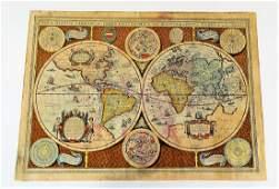 HONDIUS NOVA TOTIUS TERRARUM HC MAP ENGRAVING