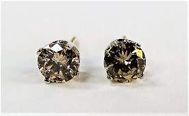 PR STUNNING 14KT WG DIAMOND STUD EARRINGS