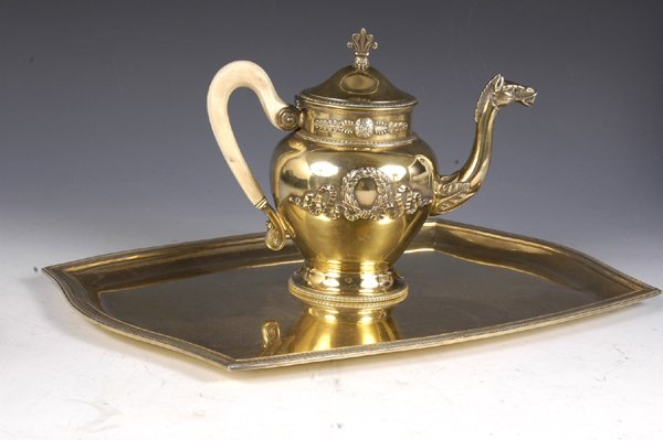 5: 19C. French Silver Chocolate Pot