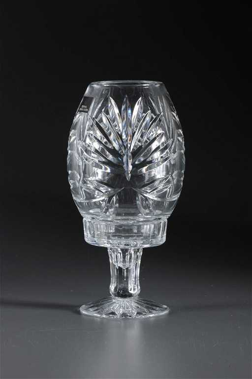 Crystal Clear Royal Doulton Hurricane Lamp Hand Made