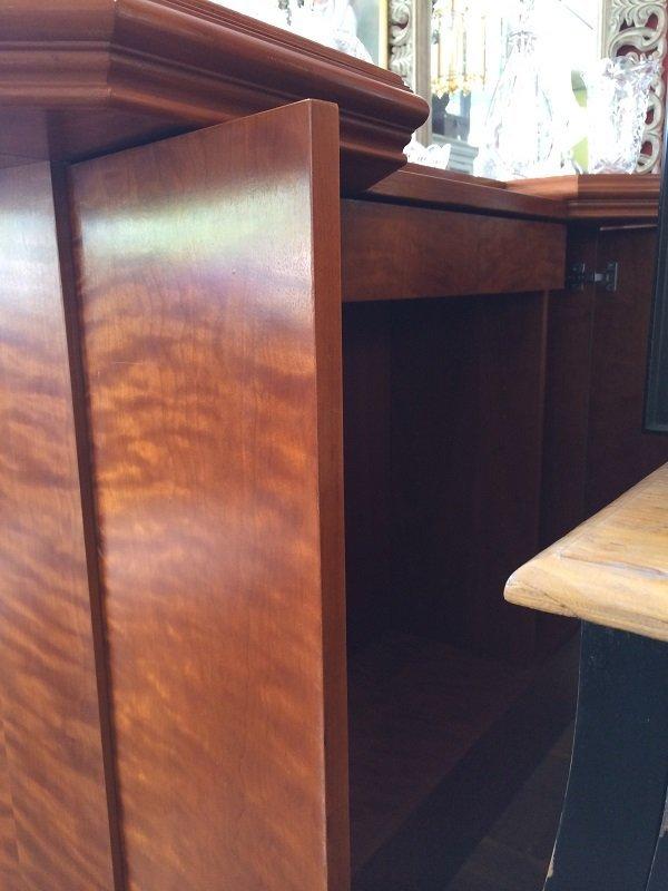 Custom Bar with Brass Foot Rail and Bar-Back Storage - 3