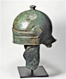 A Chalcidian Bronze Inscribed Helmet