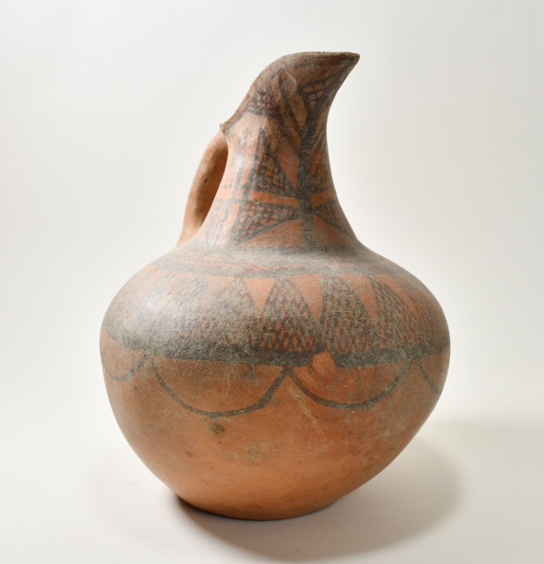 An Early Minoan Decorated Spouted Terracotta Jug - 3