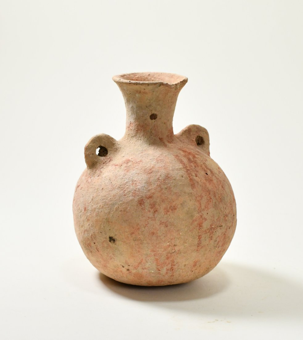 A Bronze Age Canaanite Pottery Flask - 2