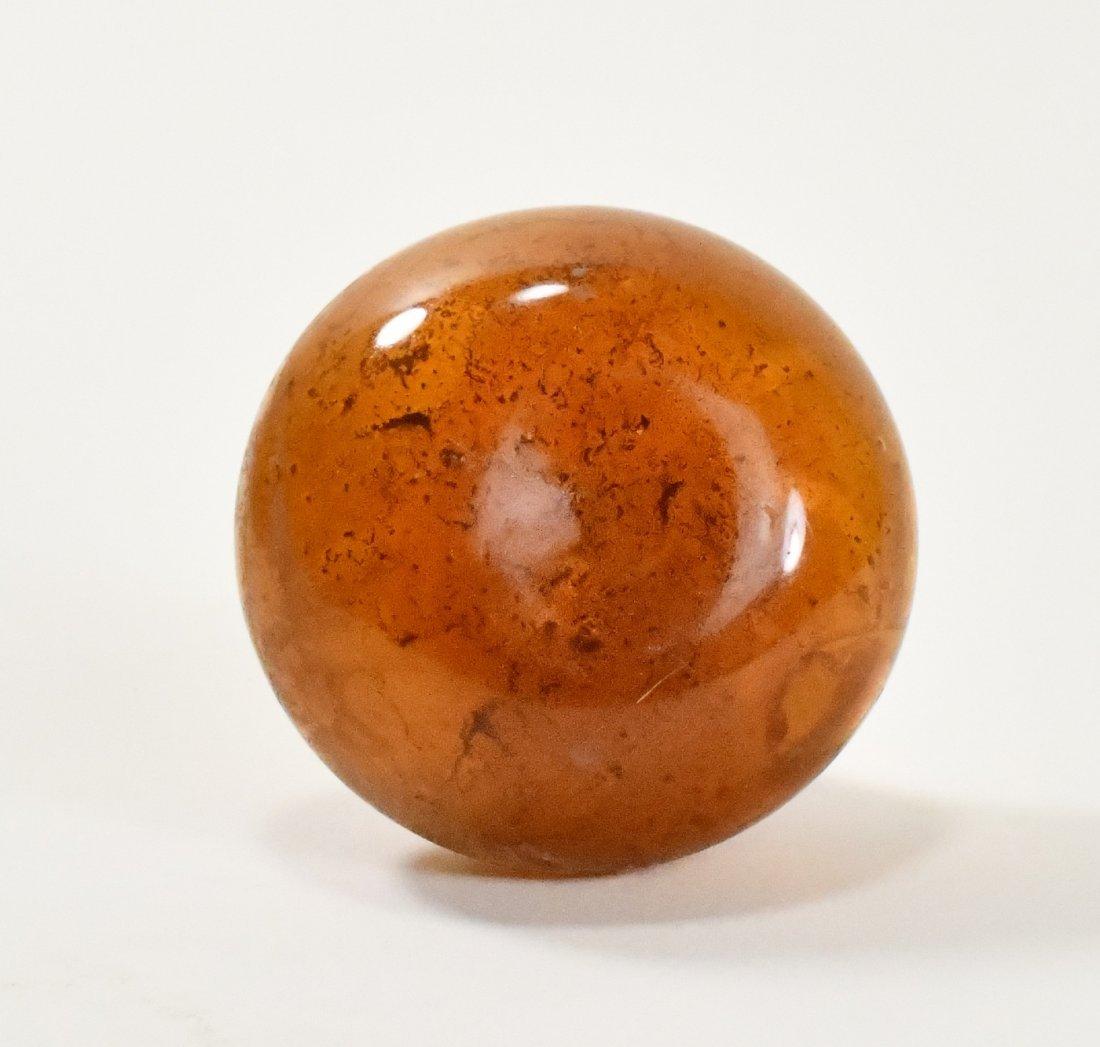 A Roman Glass Vase in Honey Brown - 4