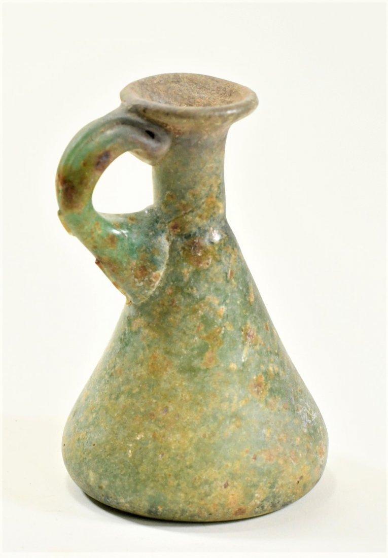 A Roman Green Glass Jug - 2