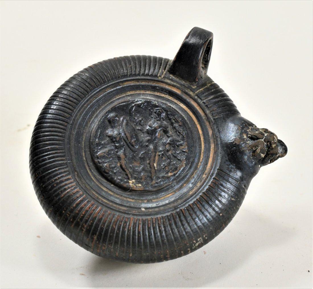 An Apulian Black-Glazed Pottery Ghuttos - 3