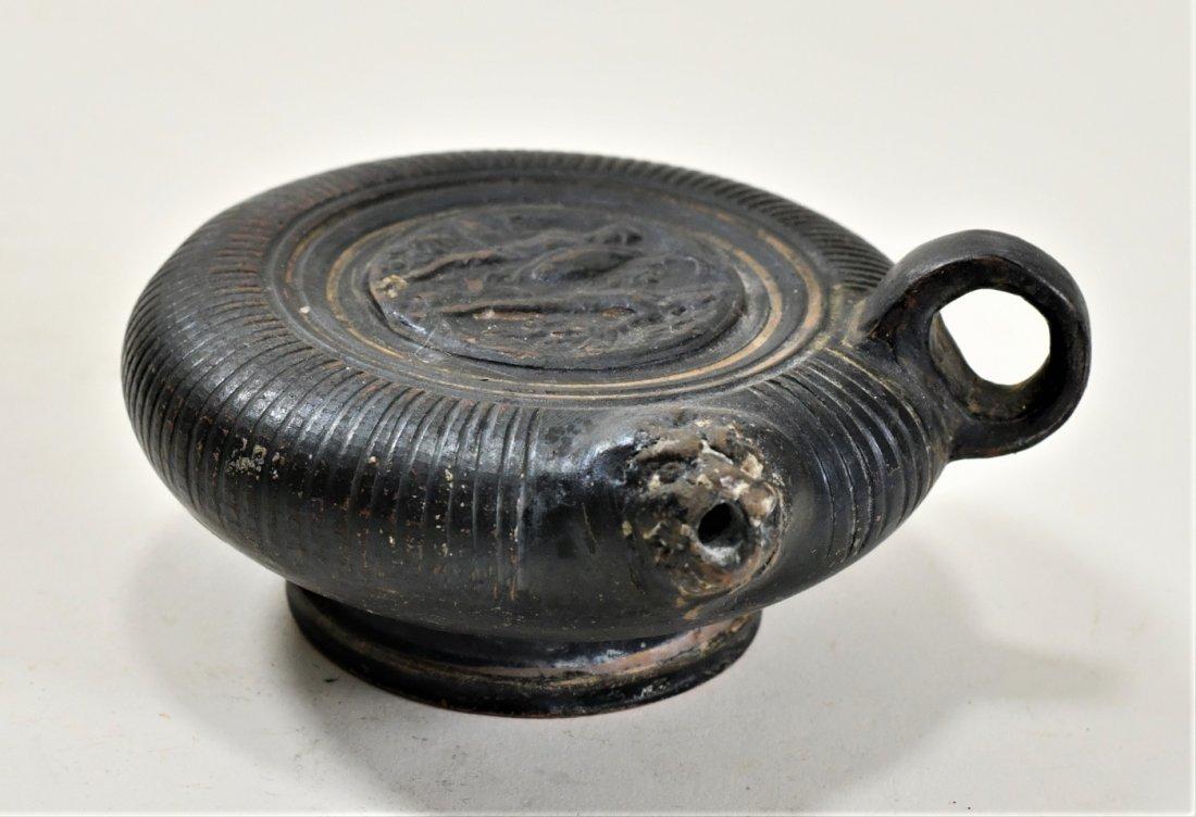 An Apulian Black-Glazed Pottery Ghuttos - 4
