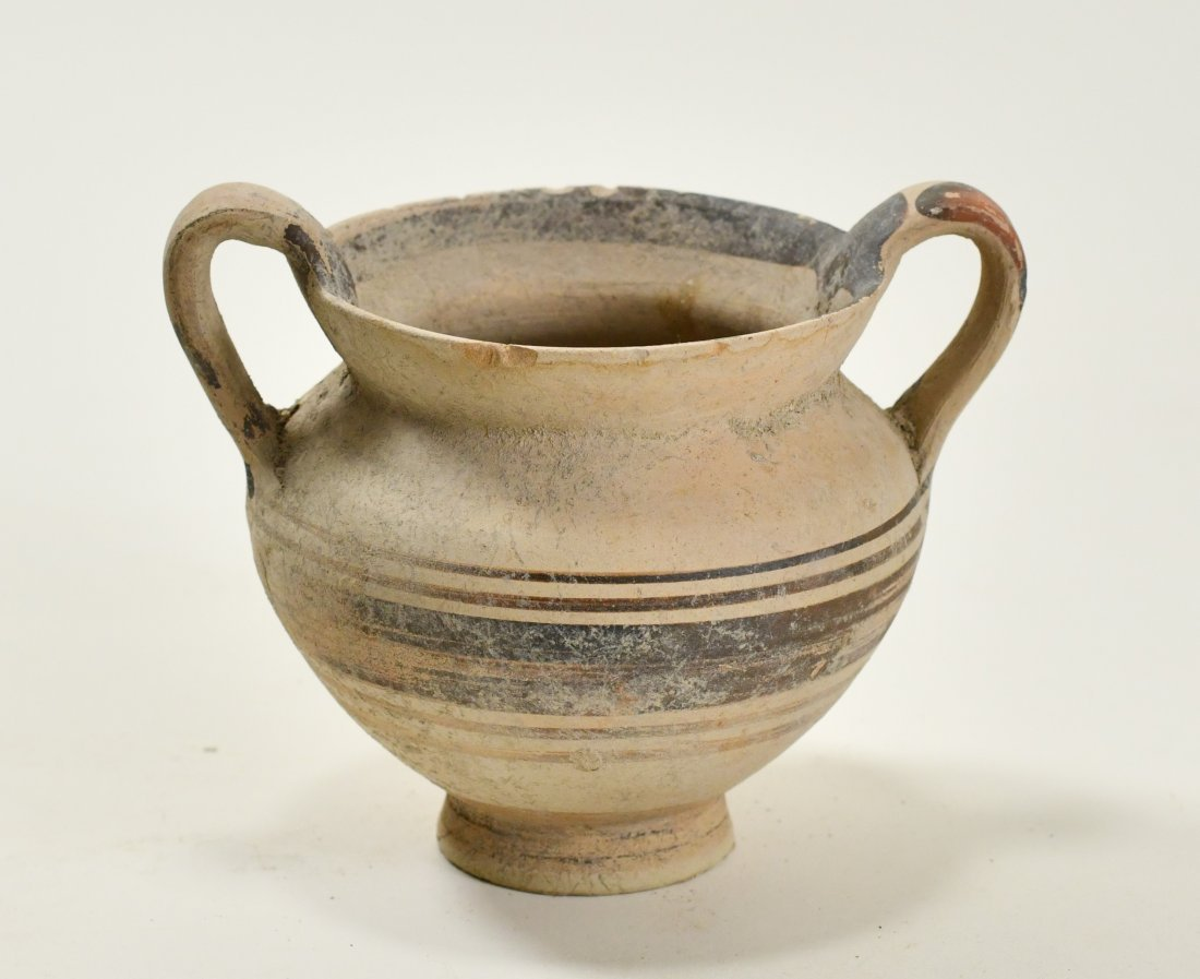 A Cypriot Decorated Pottery Twin-Handled Vase