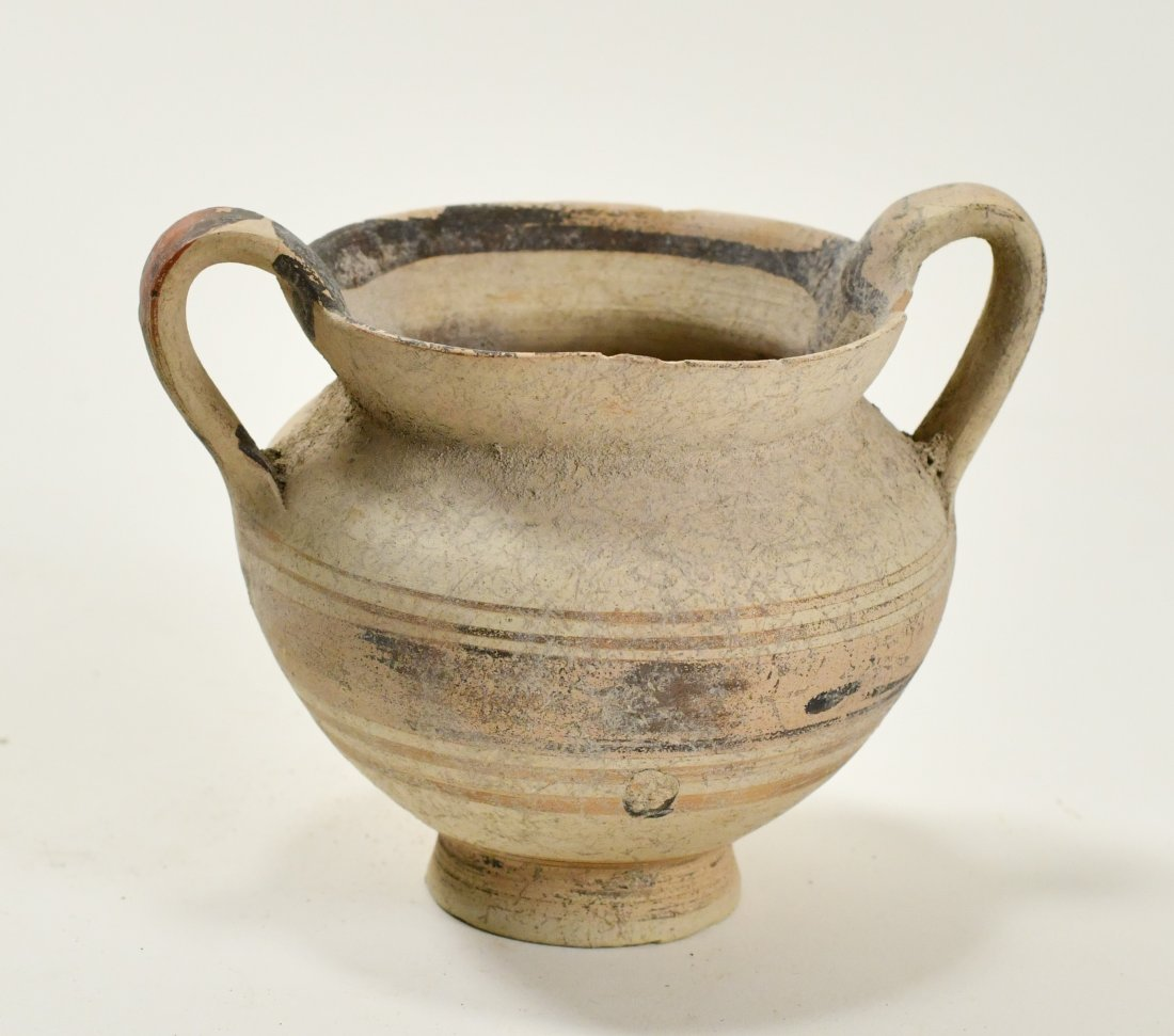 A Cypriot Decorated Pottery Twin-Handled Vase - 2