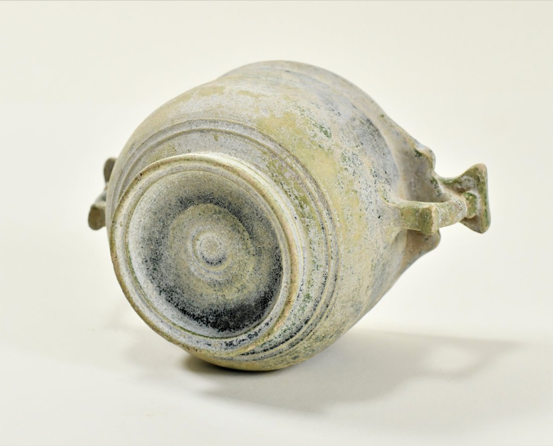 A Roman Green Lead Glazed Skyphos - 4