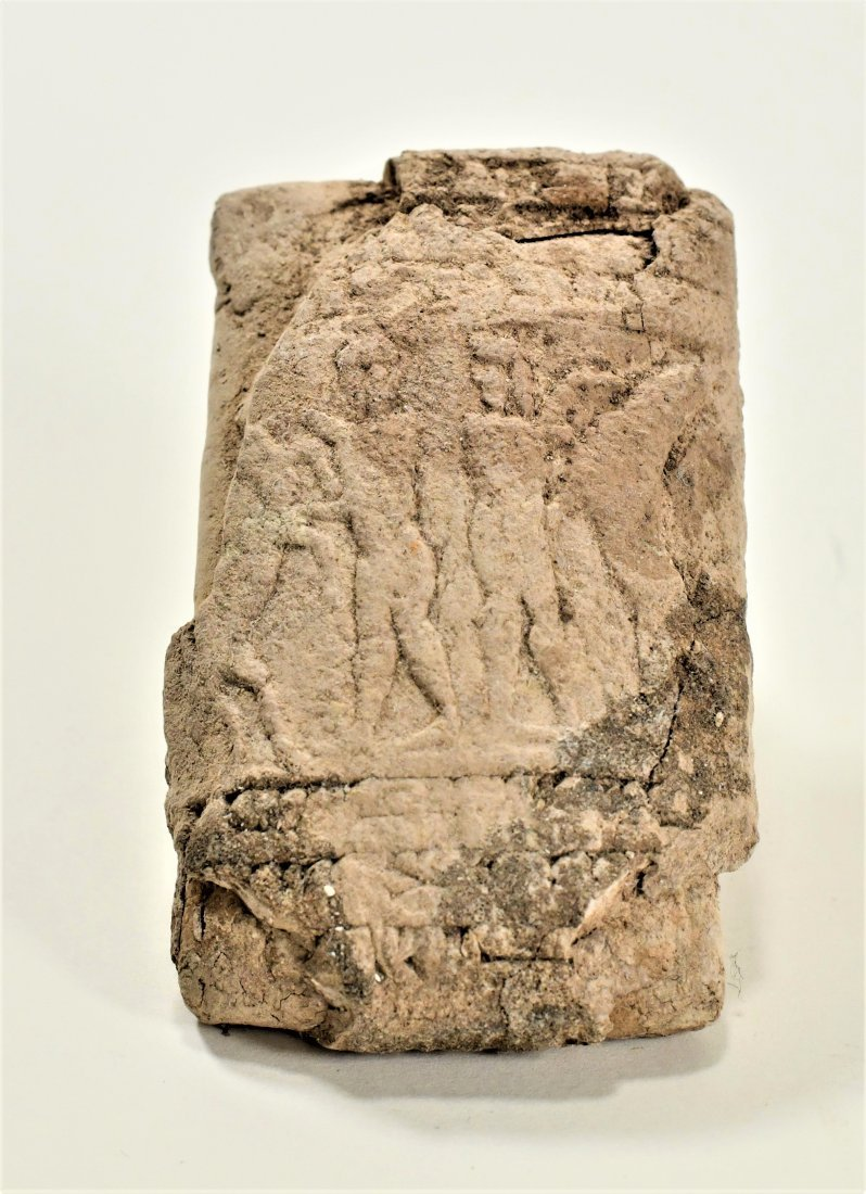 A Near Eastern Clay Cuniform Cone & Clay Relief Tablet - 2