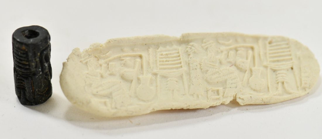 A Neo Babylonian Stone Cylinder Seal