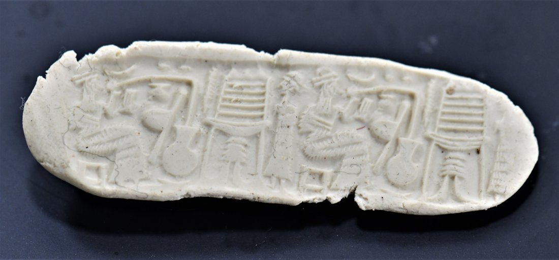 A Neo Babylonian Stone Cylinder Seal - 2