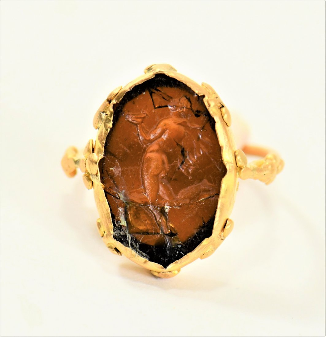 An Ancient Roman Intaglio Ring - 2