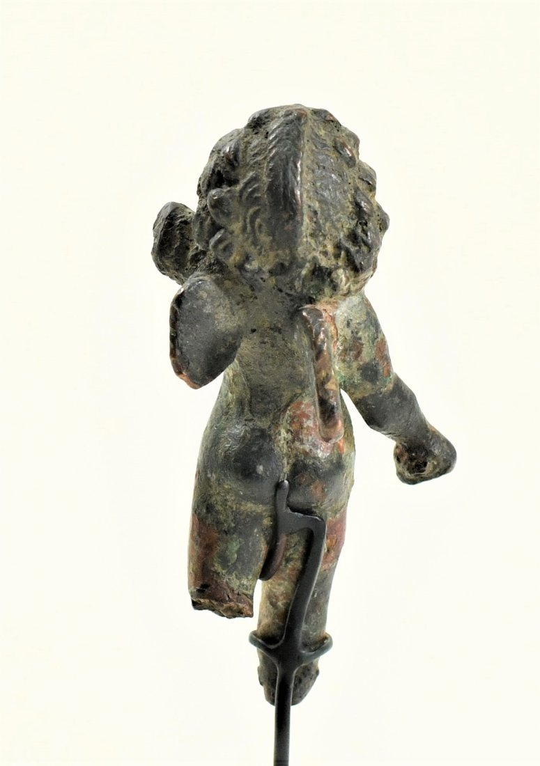A Roman Bronze Figure of a Winged Eros - 4