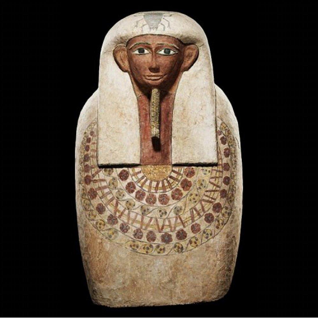 A Fine Egyptian Wood Anthropoid Sarcophagus